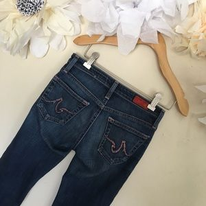 AG | The Capri Medium Wash Distressed Jeans | 24R